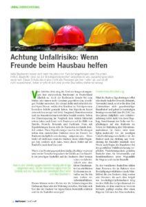 Fachartikel Asscompact Nadine Polan Unfallrisiko beim Hausbau Seite 1 Bauhelferunfallversicherung