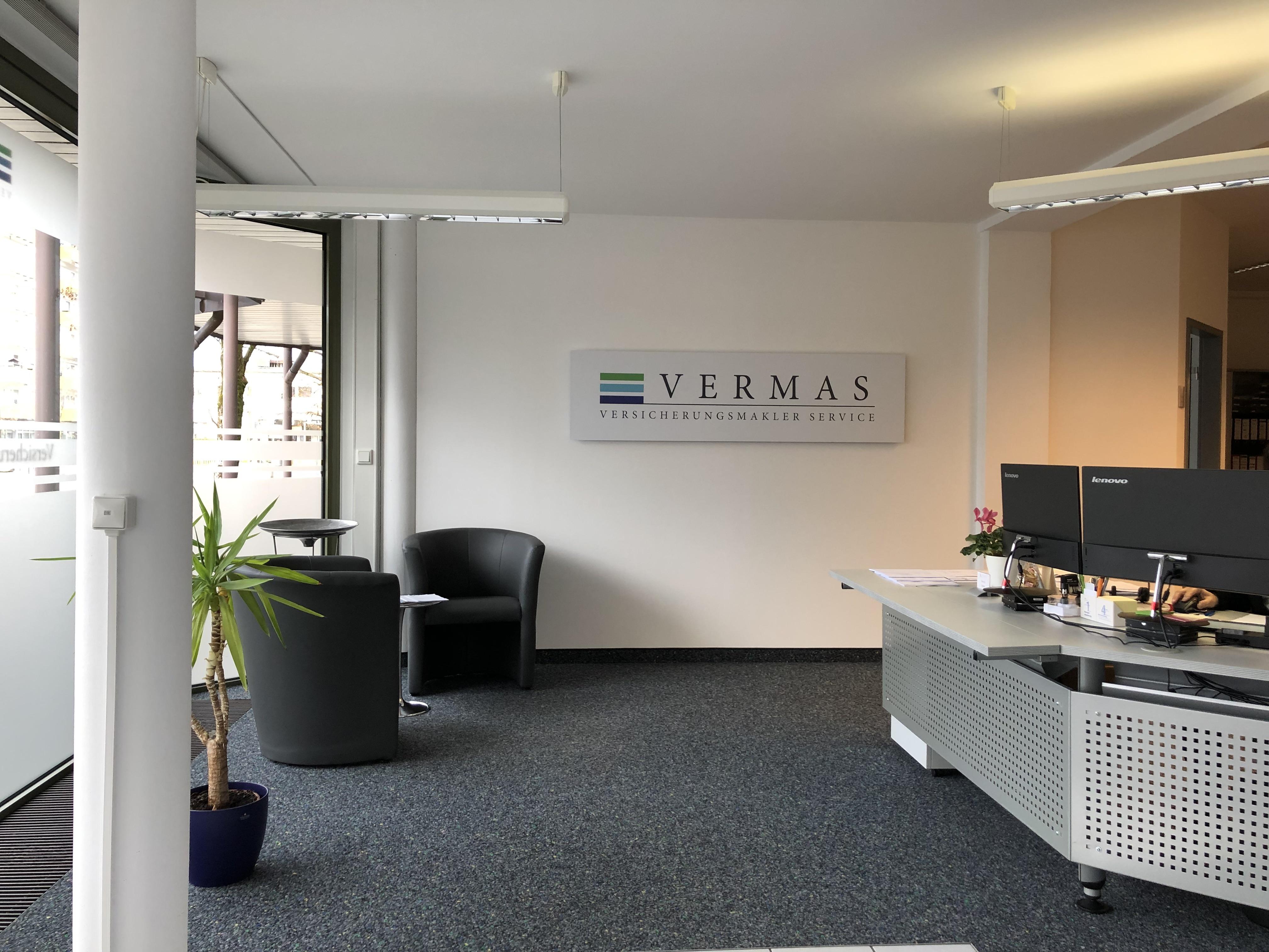 VERMAS Büro Geretsried Eingangsbereich