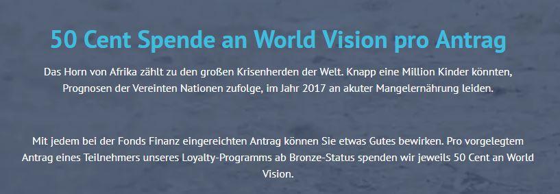 World Vision VERMAS Versicherungsmakler Service GmbH Soziales engagement